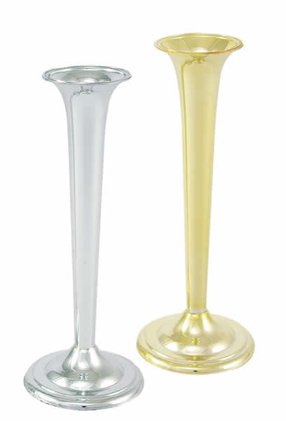 Small Bud Vase W Wide Base 670 Series Vacuum Orna Metal