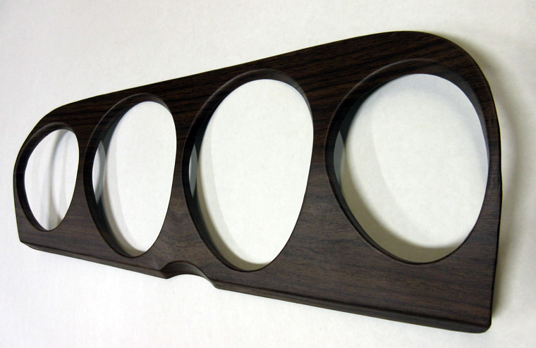 1970 Mustang Gauge Bezel Woodgrain Panel Dark Walnut