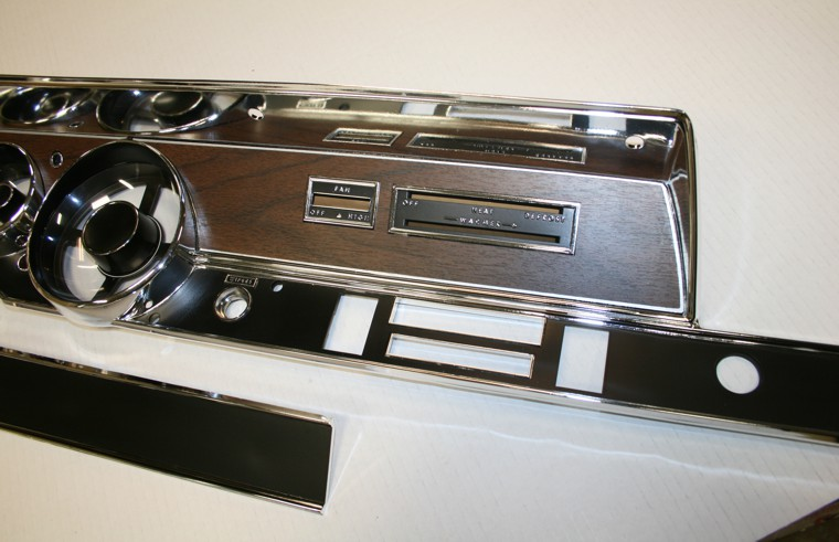1970 Plymouth Duster Rally Dash Glove Box Strip Restoration